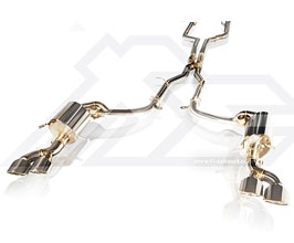 Fi Exhaust Valvetronic Exhaust System with Mid X-Pipe (Stainless) for Mercedes C-Class W204