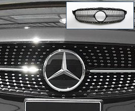 WALD Diamond Front Grill by Blan Ballen (Black with Chrome) for Mercedes C-Class W205