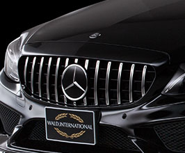 WALD Panamericana Front Grill by Blan Ballen (Black with Chrome) for Mercedes C-Class W205