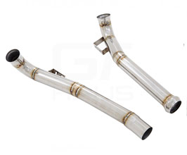 Meisterschaft by GTHAUS Secondary Cat-Delete Down Pipes (Stainless) for Mercedes GT C190