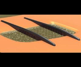 MANSORY Hood Vent Splitters for OEM Engine Bonnet (Carbon Fiber) for Mercedes GT C190