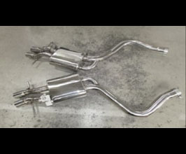 MANSORY Rear Section Exhaust System with Throttle Control (Stainless) for Mercedes S-Class W222