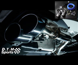 WALD DTM Sports Exhaust Muffler Section with Variable Valve Control (Stainless)