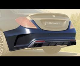 MANSORY Aero Rear Bumper with Diffuser (Partial Primed Carbon Fiber) for Mercedes S-Class W222