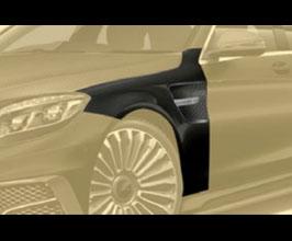 MANSORY Aero Front Fenders (Partial Primed Carbon Fiber) for Mercedes S-Class W222