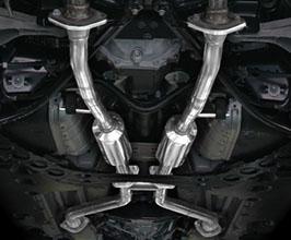 Suruga Speed Full Dual Center Muffler Mid Pipes (Stainless)