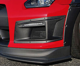 ChargeSpeed BottomLine Front Bumper Duct with DRL and Turn Signal (FRP)