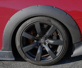 ChargeSpeed BottomLine Front 15mm and Rear 20mm Wide Over Fenders (Carbon Fiber)