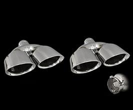 T-Demand TDM Muffler Cutter Exhaust Tips Set - Double Oval (Stainless)